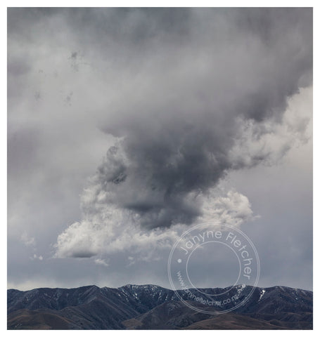 Framed Photographic Print - Cloud Over The Ida Range, Central Otago