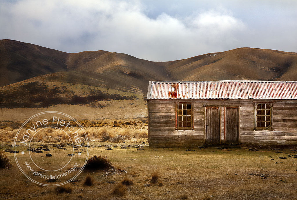 Unframed Photographic Print - Home Hills Run Cookhouse, Maniototo