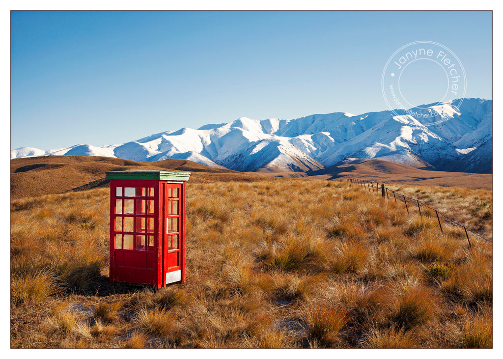 Framed Print - Hawkdun Phonebox, Central Otago