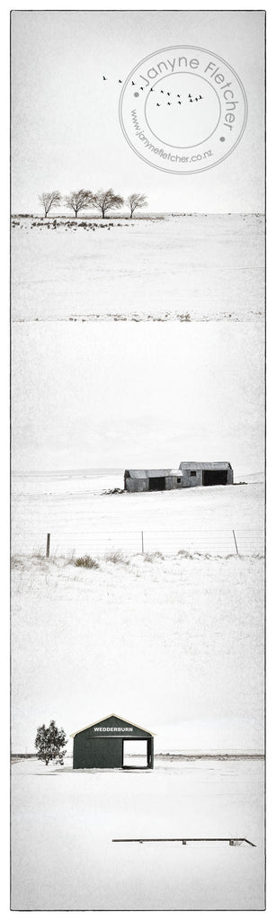 Framed Photographic Print - Winter at Wedderburn, Central Otago