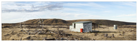 Framed Photographic Print - Hut, Hawkdun Runs Road, Central Otago