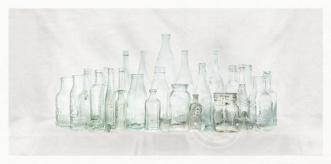 Framed Photographic Print - Naseby Bottles