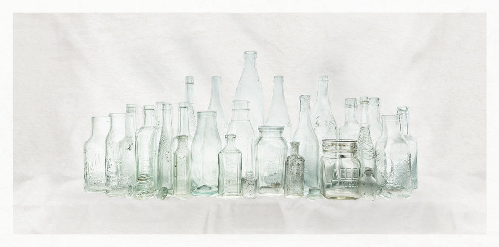 Unmounted Photographic Print - Naseby Bottles