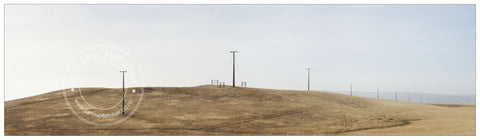 Framed Print - Power Poles, White Sow Valley