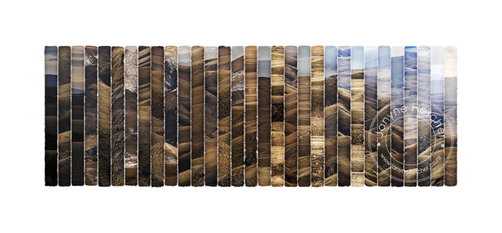Framed Limited Edition Photographic Print - Valleys and Gullies, Central Otago