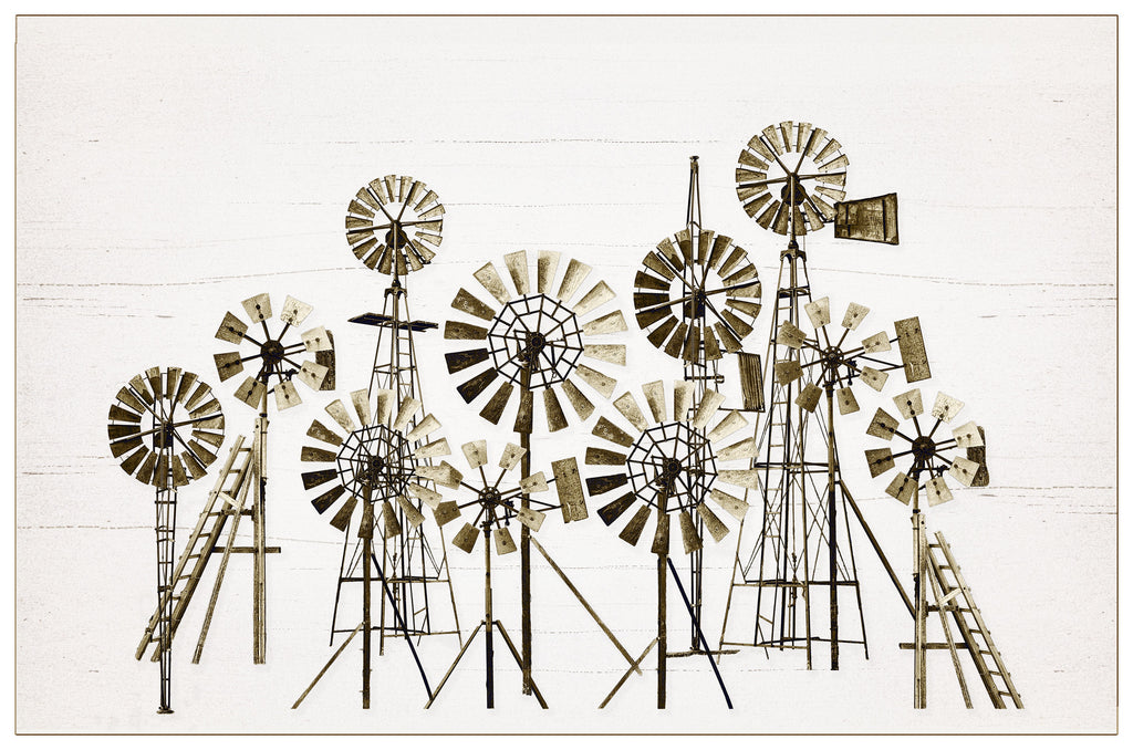 Unframed Photographic Print - Maniototo Windmills