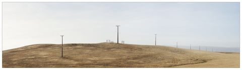 Unframed Print - Power Poles, White Sow Valley, Central Otago