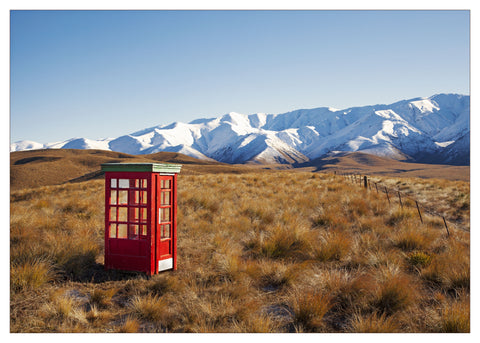 Unframed Print - Hawkdun Phone Box