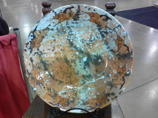 Platter  shown in Turquoise  (20 inch diameter)
