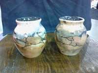 Sara Vase   (shown as a pair, Pink [left} and Brown)