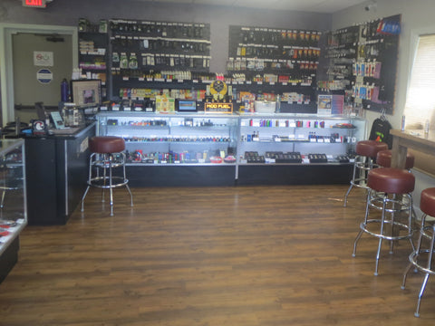 CJ Vapors largest eliquid selection in the area
