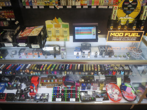 huge variety of mechanical mods, RDA's and RDTA's available at CJ Vapors Inwood!