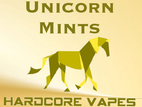 Hardcore Vapes, Unicorn Mints MAX VG Eliquid!