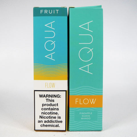 AQUA ELIQUID, 4 flavors, 60 mL Bottle, 0mg, 3mg or 6mg Nicotine