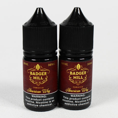 Badger Hill Reserve - 5 great flavors - 30 mL Nic Salts