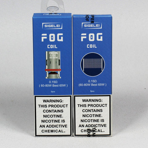 Sigelei Fog Coils, pods and 510 adapter