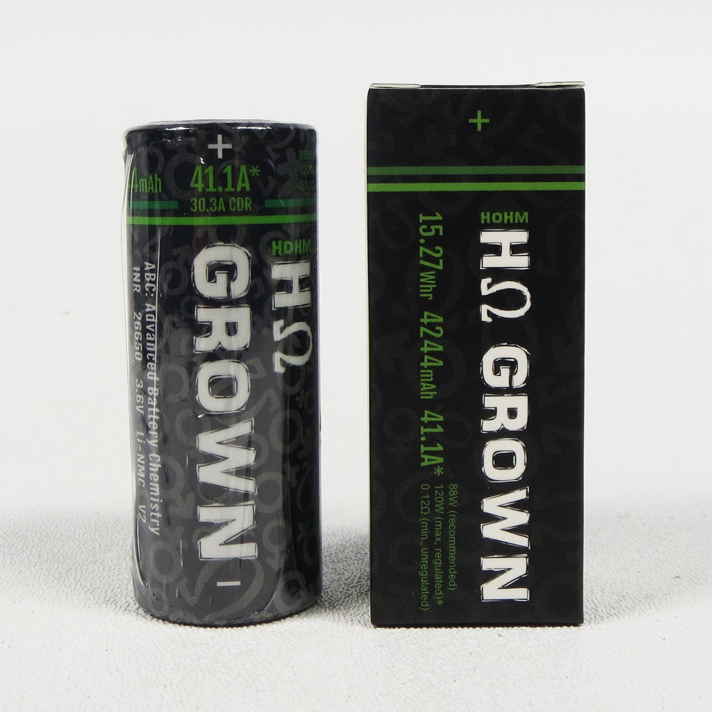 HOHM GROWN LI-NMC 26650, 4244 mAh battery