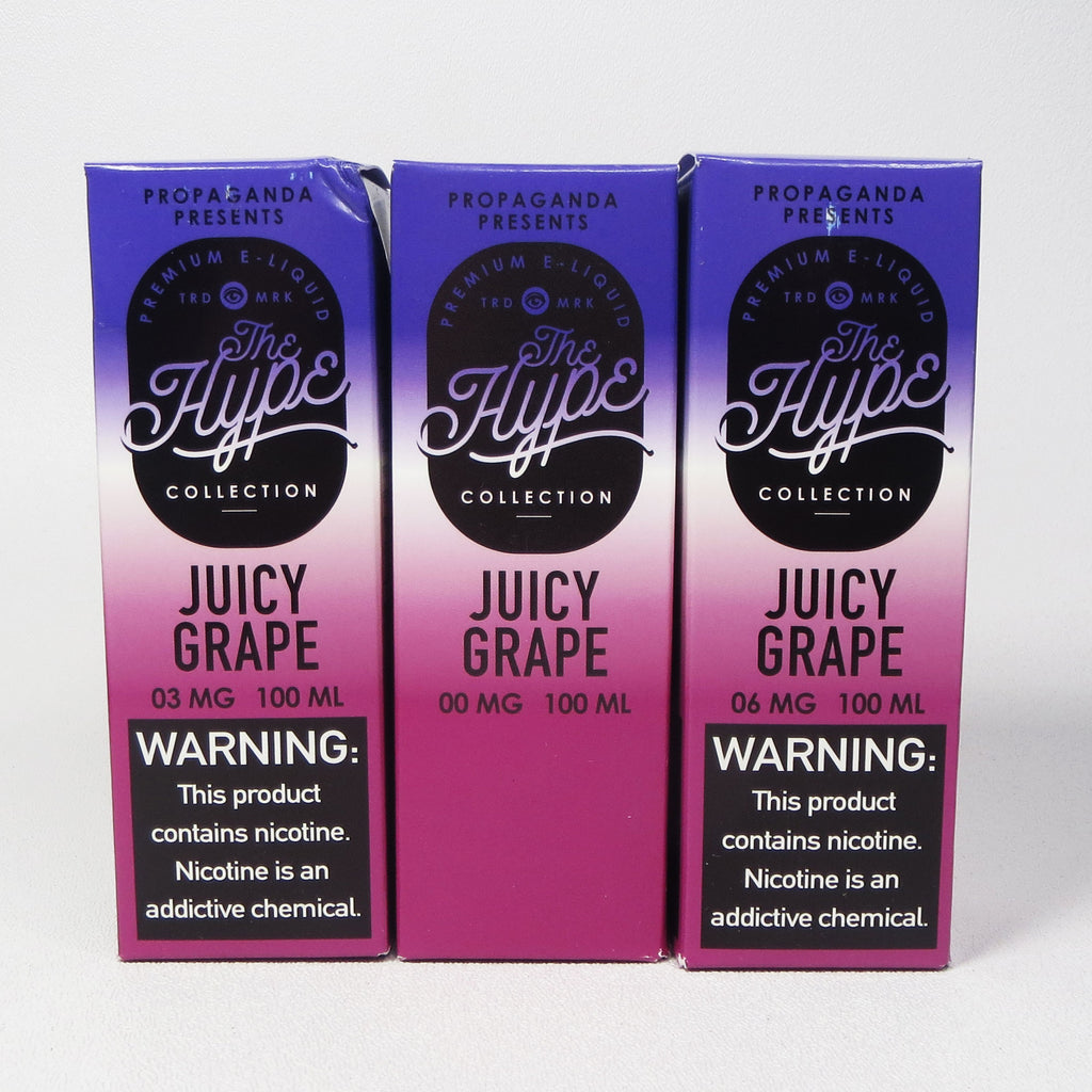 The Hype Collection, JUICY GRAPE, 100 mL Bottle
