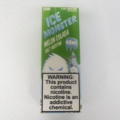 Ice Monster, Melon Colada, 30 mL Bottle, 24mg or 48mg Salt Nicotine