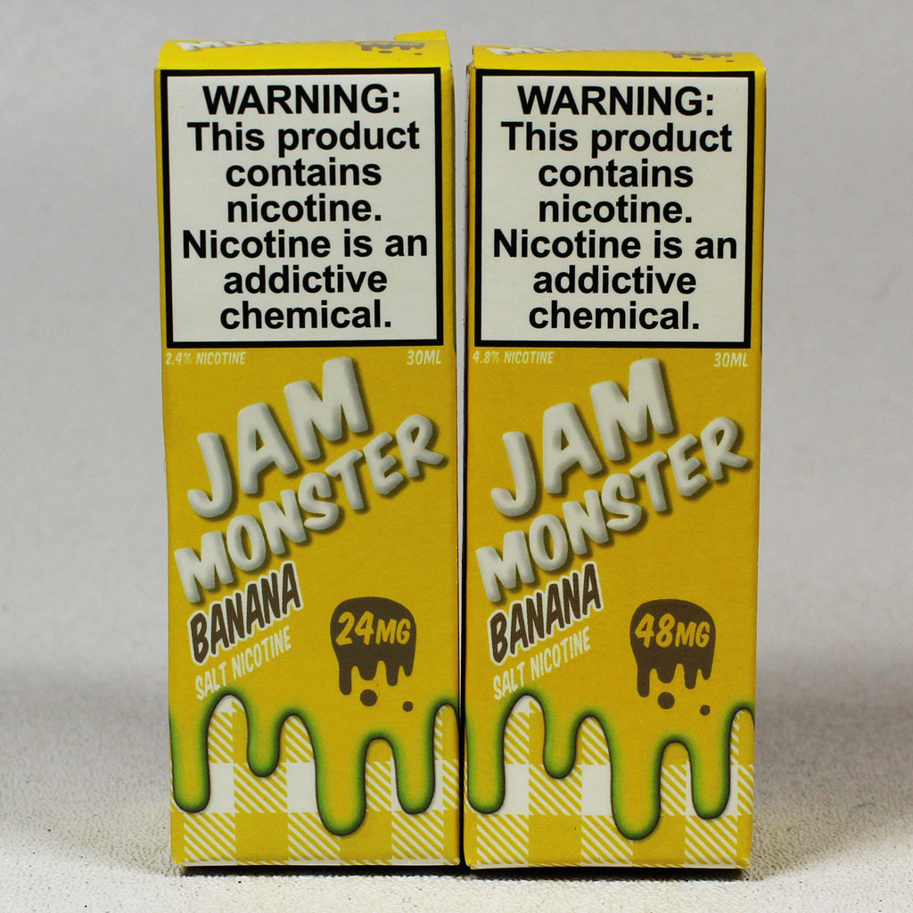 Jam Monster, Banana, 30 mL Bottle, 24mg or 48mg Salt Nicotine