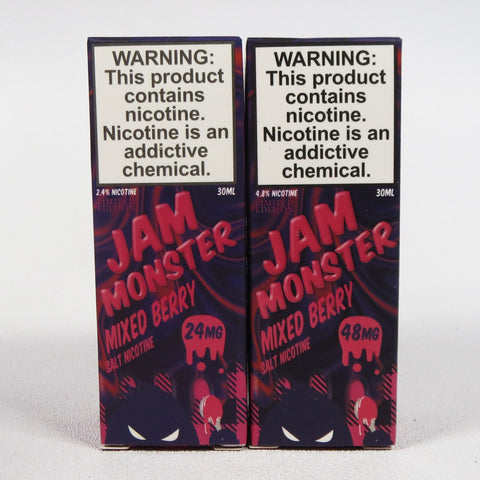 Jam Monster, Mixed Berry, 30 mL Bottle, 24mg or 48mg Salt Nicotine