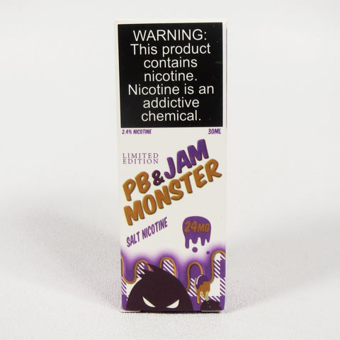 Jam Monster, PB&J Grape, 30 mL Bottle, 24mg or 48mg Salt Nicotine