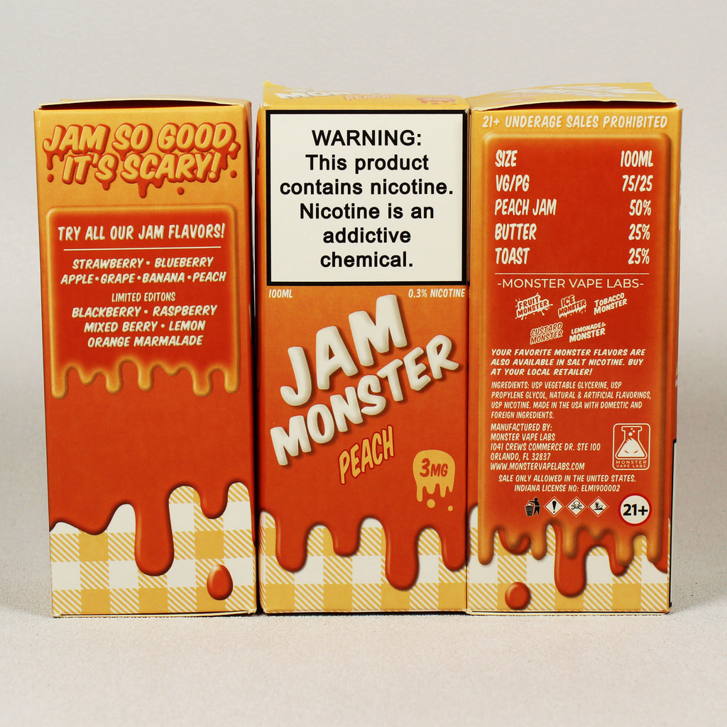 Jam Monster, PEACH, 100 mL Bottle