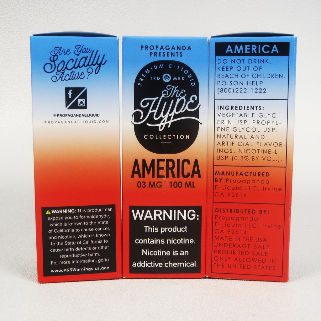 The Hype Collection, AMERICA, 100 mL Bottle