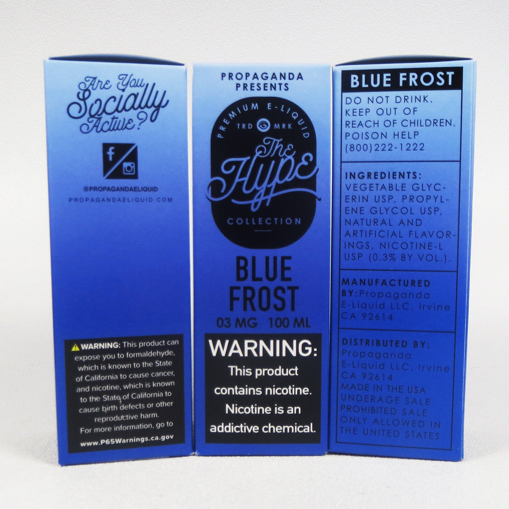 The Hype Collection, BLUE FROST, 100 mL Bottle