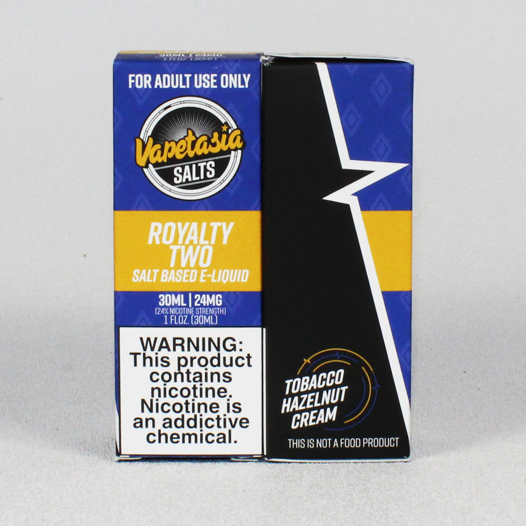 Vapetasia Royalty 2, 24 or 48 mg SALT nic, 30 mL Bottle