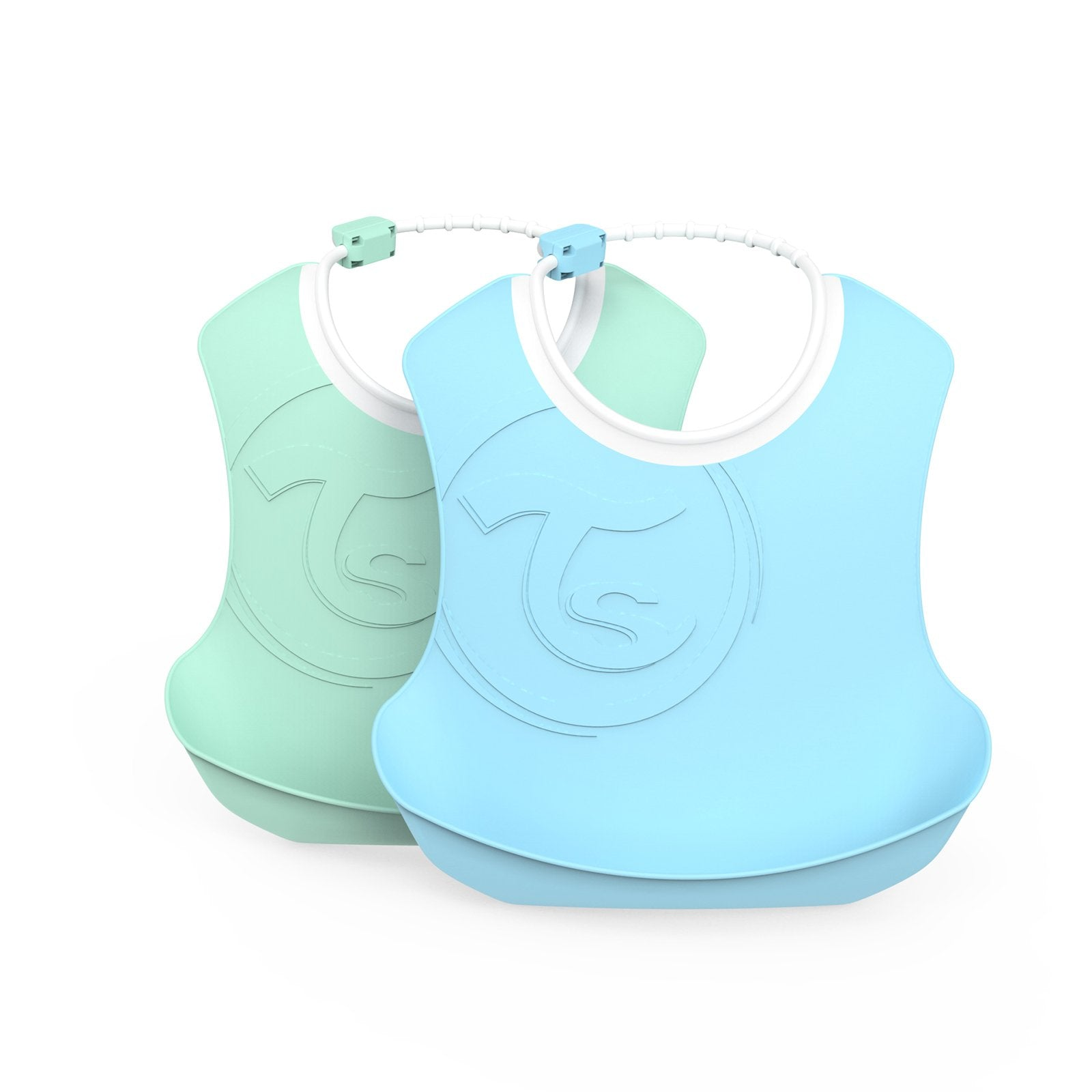 2x Bib 4+m Pastel Blue Green