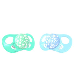 2x Pacifier Pastel Blue Green  6+m