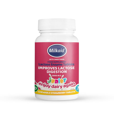 Milkaid Junior Lactase Enzyme Tablets 60's