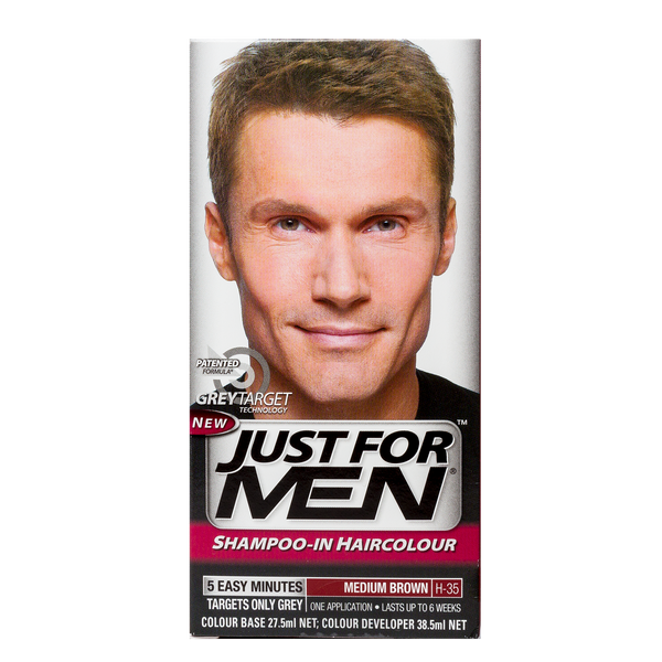 Just For Men Shampoo-In Hair Color Medium Brown – Corlison