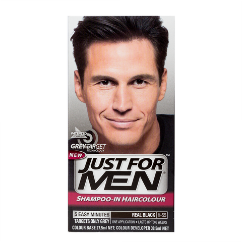 Just For Men Shampoo-In Hair Color <br> Real Black