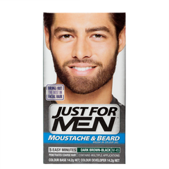 Brush-In Color Gel For Moustache & Beard <br> Dark Brown Black