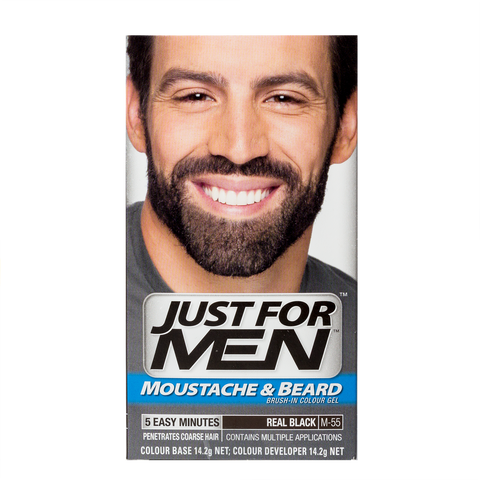Just For Men Brush-In Color Gel For Moustache & Beard <br> Real Black