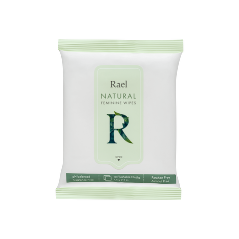Rael Natural Feminine Wipes 10s