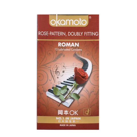 Okamoto Roman Rose Pattern Condoms 12s