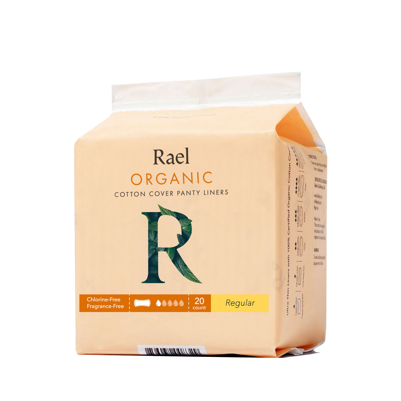 Rael Regular Liners with Organic Cotton Cover 20s