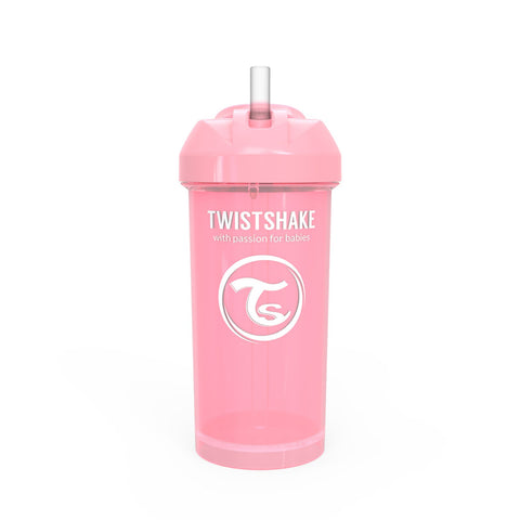 Straw Cup 360ml 12+m Pastel Pink