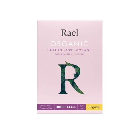 Rael Regular Organic Cotton Tampons with BPA-Free Applicator 16s