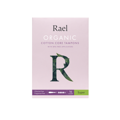 Rael Super Organic Cotton Tampons with BPA-Free Applicator 16s