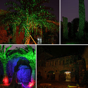 Christmas Laser Lights, Joly Joy Class Ⅲ-A Star Projector with Bonus 14.7 Feet Extension Cord, Light Sensor, 10 Modes IP65 Waterproof, FDA Approved for Christmas, Party, Landscape and Garden Decoratio