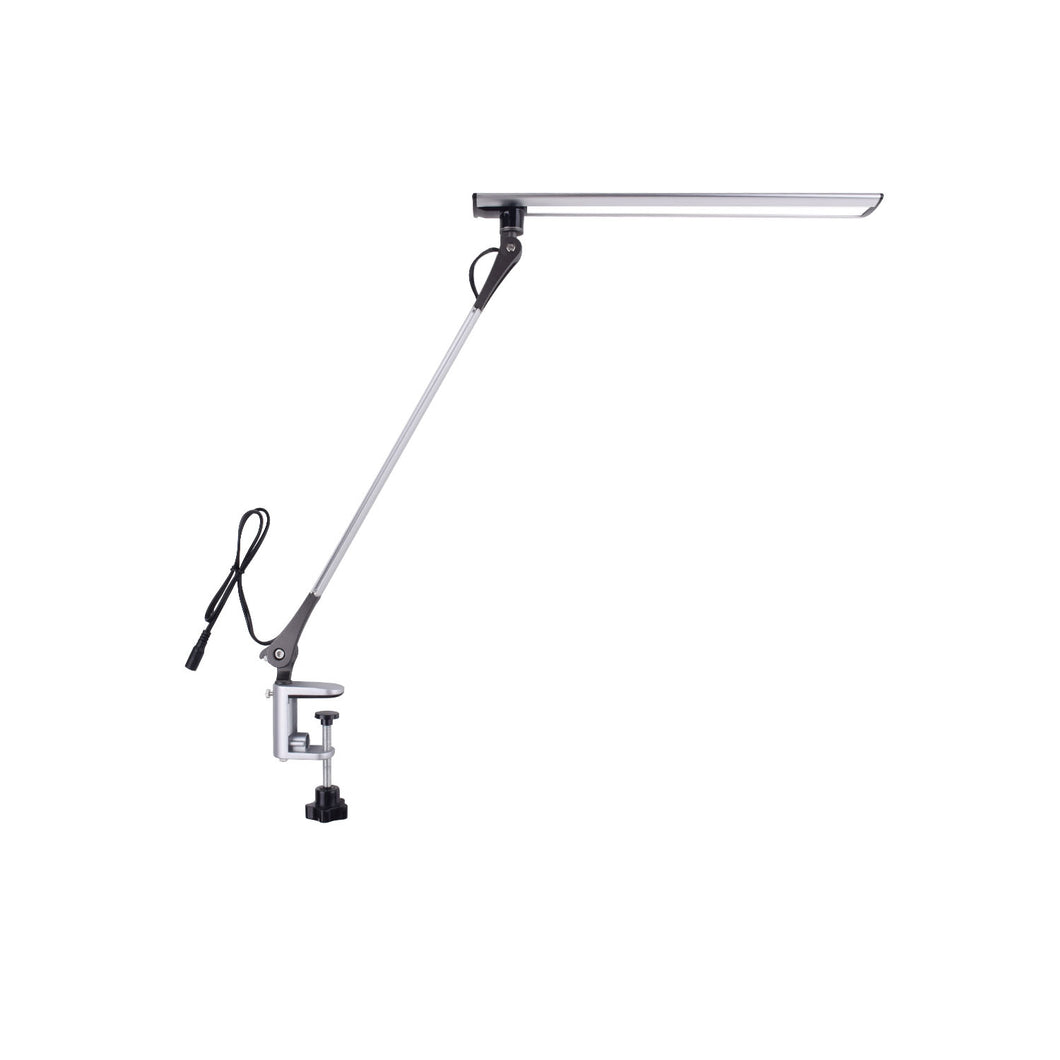 Swing Arm LED Desk Lamp, 12W Metal Architect Office Light with Clamp