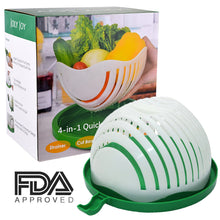 Salad Cutter Bowl, FDA Approved, 60 Second Fast Salad Serve, Quick Chop Salad Maker