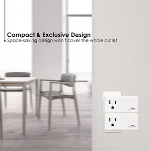 Smart Plug WiFi Outlet, Compatible With Alexa, Echo/Dot, Google Home/Mini and IFTTT