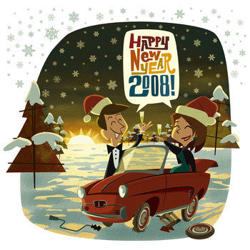 "Various - Happy New Year 2008! 7""/cdep"