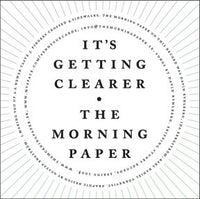 Morning Paper - It's Getting Clearer cdep