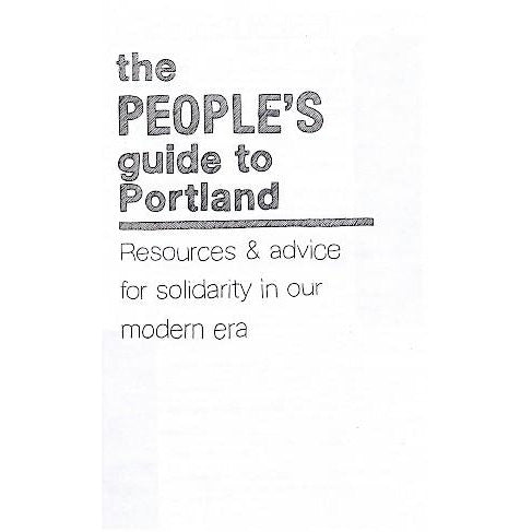 People's Guide To Portland - Issue #1 zine